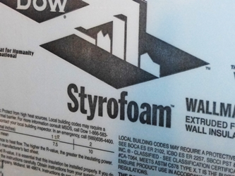 DOW Foam can be Installed in a Basement Without Drywall!